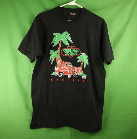 Vintage 90s Original Cookie Co. Pepsi T Shirt Large Fruit of the Loom Made in USA Black Excellent California Raisin Classic Cars Cool