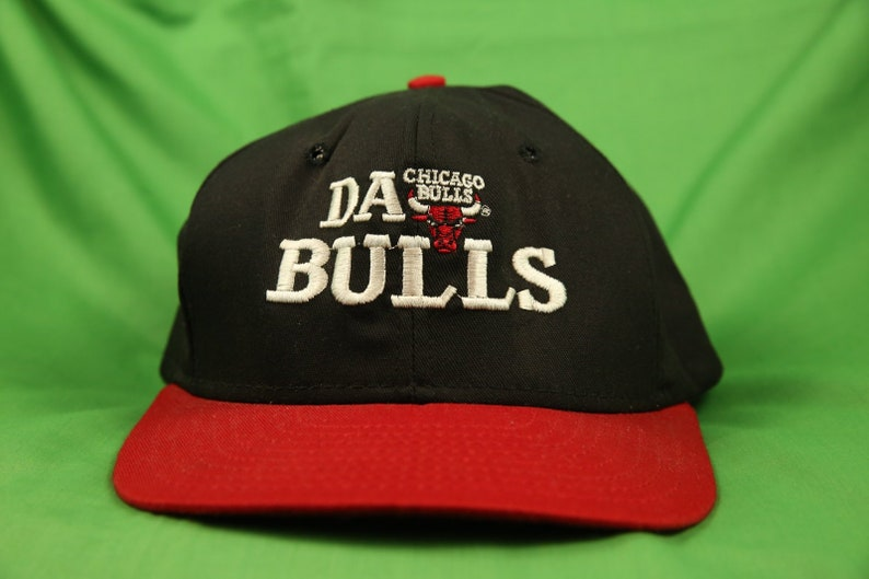ef7544b6a7e Vintage 90s Chicago Bulls Snapback Cap Da Bulls Made In USA