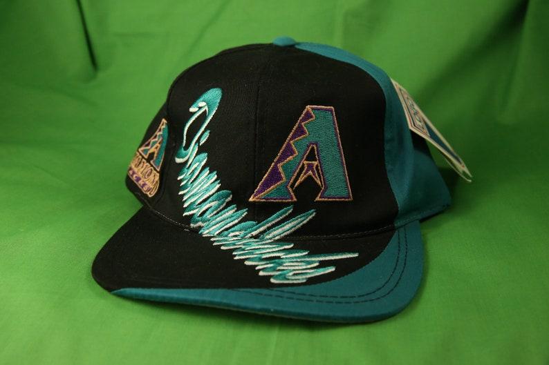 efc28ae2d Vintage 90s Arizona Diamondbacks Snapback Cap Adjustable NOS OSFA MLB  Baseball Logo 7 Tempe Flagstaff Phoenix 1990s Starter
