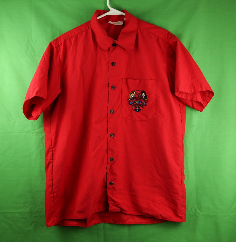 ac292856f8 Vintage 90s Sailor Jerry Short Sleeve Button Up Shirt Large