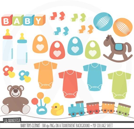 Kinderzimmer clipart  Baby-Spielzeug-Clipart. Neugeborenen ClipArt. Kinderzimmer