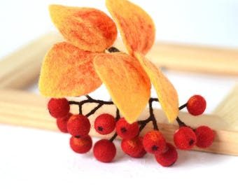 Unique gift for woman brooch Berries jewelry Red berry brooch Rowan jewelry Berries pin Artisan jewelry gift idea for Nature lovers gifts
