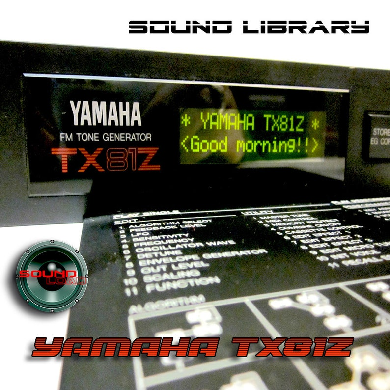 YAMAHA TX81Z Large Original Factory & New Created Sound Library/Editors  Mac/PC on CD or for download