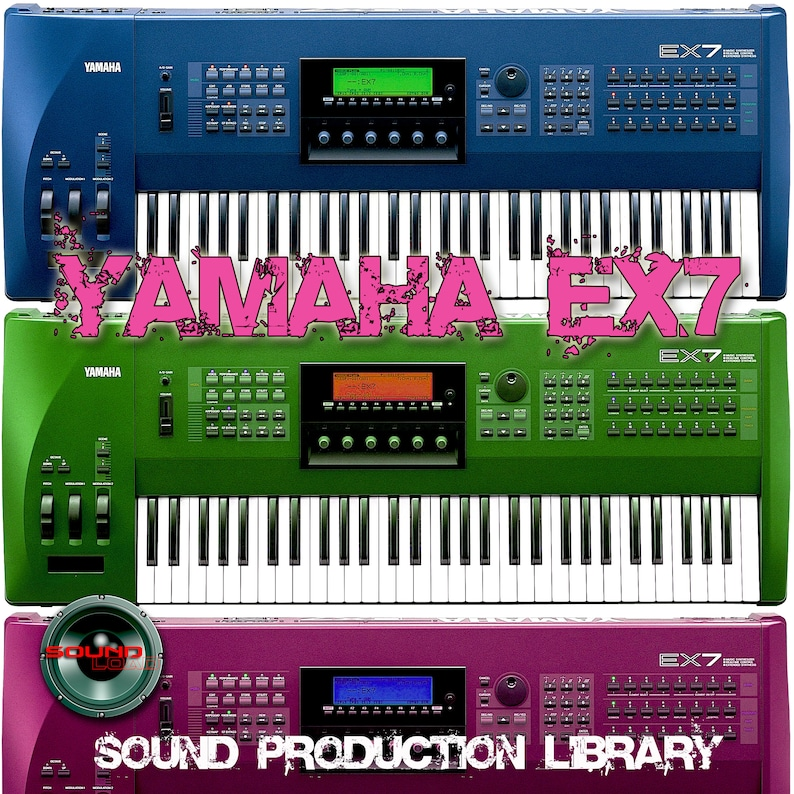 Yamaha EX7 - the very Best of - unique original Huge 24bit WAVE/Kontakt  Multi-Layer Samples Library on CD