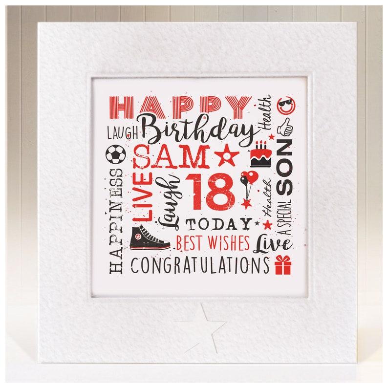 Son Birthday Card Personalised Handmade 8th 9th 10 11th 12th 13th 16th 17th 18th 21st 30th 40th Any Age