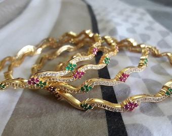 One gram gold bangles, party bangles, bangles