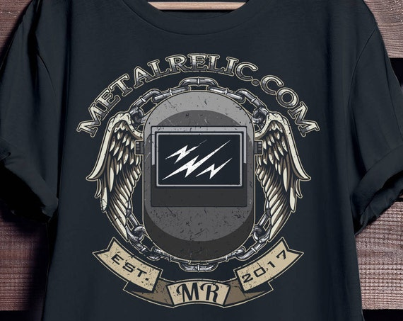 Metal Relic Helmet T-shirt Gifts for Dad Family Mens Ladies Womens, Welding Helmet Shirt, Weld Shirt, Welding T-Shirt,  Welder's Tshirt