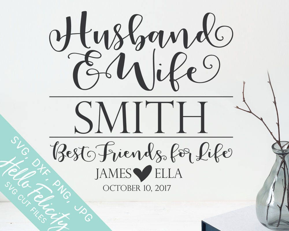 Husband and Wife Svg Wedding Svg Svg files for Cricut | Etsy