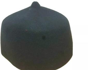 Igbo Traditional Cap / Igbo Traditional Amaka Black Cap / Grooms Cap