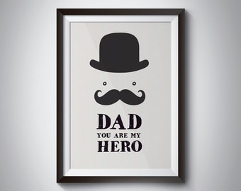 Dad you are my hero framed print - Dad/birthday/gift/fathersday