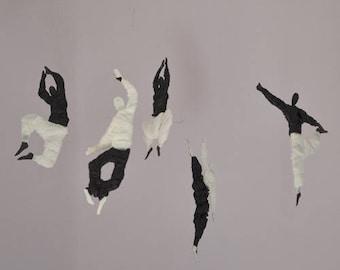 Baile Aereo, Decorative Mobile, Hanging decoration Black and white