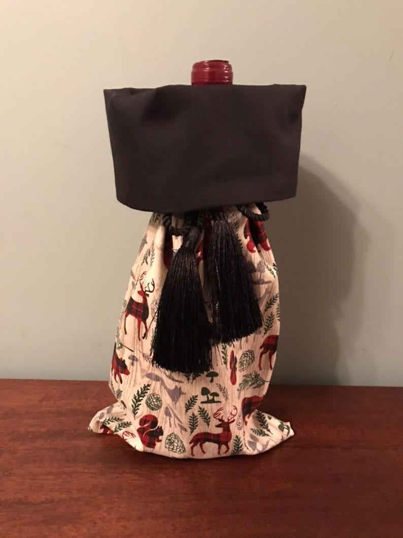 Woodland Creature Wine Bag BYOB Bag Hostess Gift