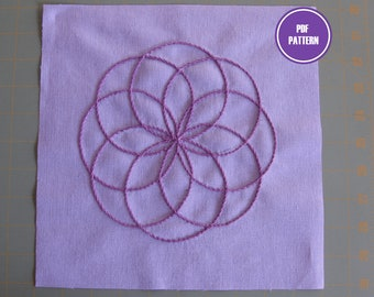 STAR TURN -- Embroidery Pattern | PDF Pattern – Digital Download | Modern Embroidery Designs
