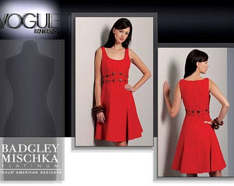 VOGUE V1089 sewing pattern for women. Princess seam dress pattern.  Badgley Mischka dress sewing pattern.  Vogue American Designer.