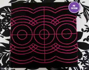 WHEEL + WAVE -- Embroidery Pattern | PDF Pattern – Digital Download | Modern Embroidery Designs