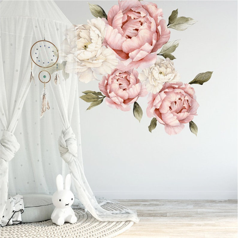 Piwonie Kwiaty Naklejki Na Sciane Wzor 4 Etsy