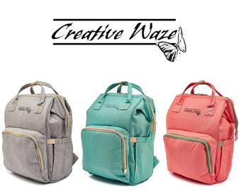 Fashion DIAPER BAG, Personalazed  Baby Travel Backpack , Mummy bag , Nappy Bag w/ Stroller Strap