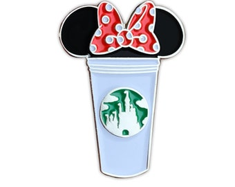 Minnie Castle Coffee Cup Pin | Disney Themed Pins | Minnie Mouse Pins