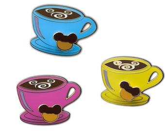Mickey Swirl Coffee Cup Pin