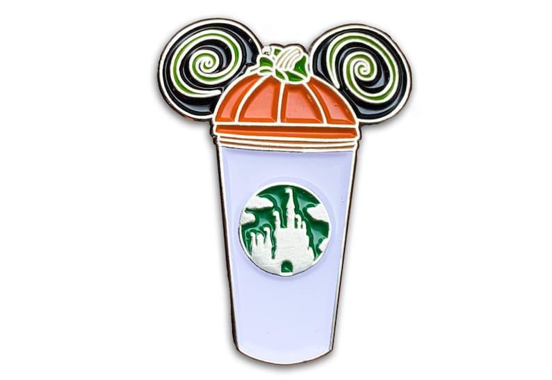 Pumpkin Castle Coffee Cup Pin  Halloween Pins  Pumpkin Spice image 0