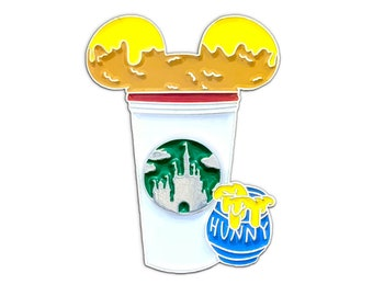 Winnie the Pooh Castle Coffee Cup Pin