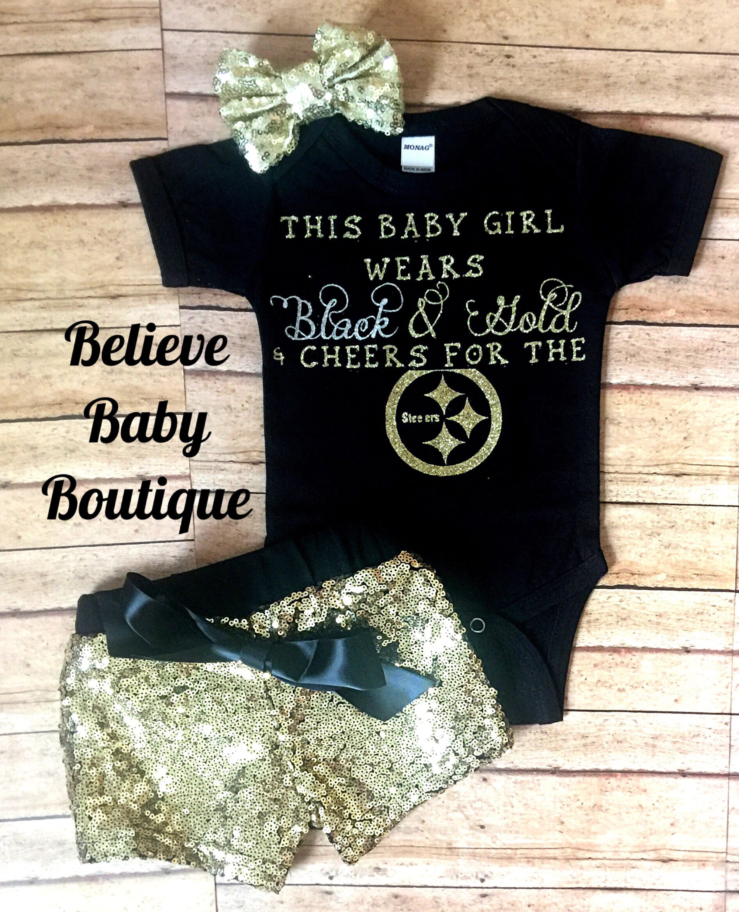92dc149a pittsburgh steelers baby outfit, nfl baby onesie, steelers baby ...