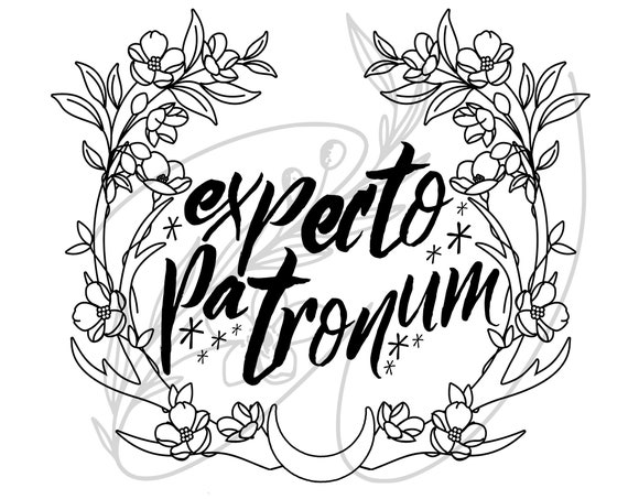 Expecto Patronum Antlers Harry Potter Svg Cricut Png Etsy