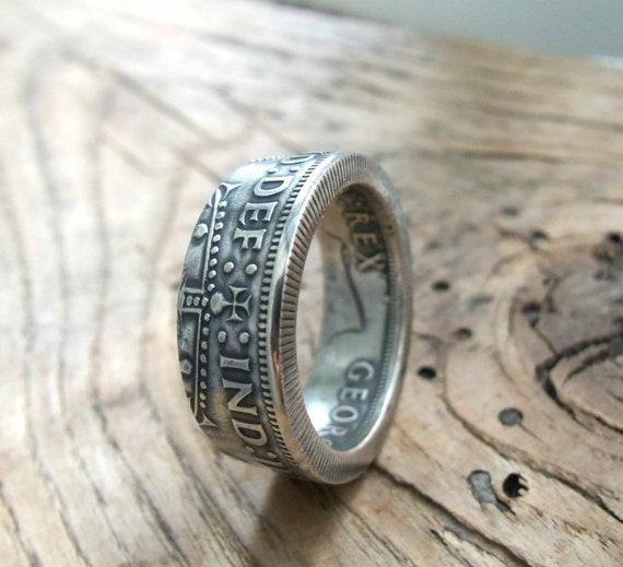 Großbritannien Zwei Schilling Münze Ring Schmuck Silber Etsy