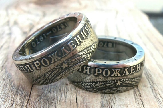 Münze Ring Udssr 1 Rubel Lenin Ringe Aus Münzen Lenin Etsy