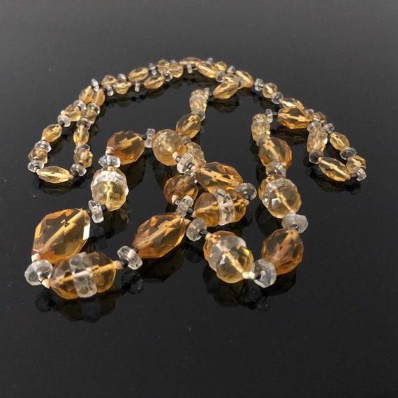 Vintage Art Deco jewellery crystal necklace