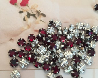 Preciosa Rose Montees 20ss 4.8mm Prong Set Pack of 25 CRAFT Colour Option