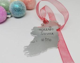 IRELAND CHRISTMAS DECORATION, Tree Decoration, Irish Gift, Irish, Nollaig Shona, Ireland, Christmas, Ornament, Gift,