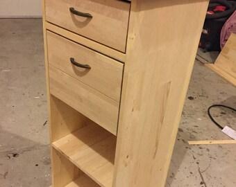 Wood Podium desk with drawers