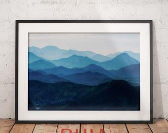 Mountain Photography, Mountain Print, Wall Art Print, Colour Landscape, Scandinavian Decor, Wilderness, Printables #MountainsCollection Nº1