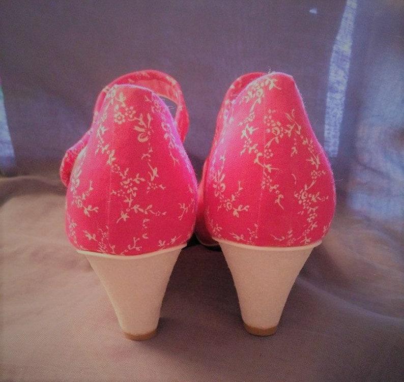 5bb1cffd3d42 Blooming beautiful customised shoe flower fabric low heel