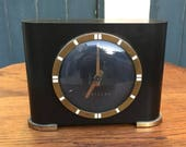 Art Deco Ben Franklin Vintage Bakelite Westclox Model S4-50 Electric Clock, great for staging, retro decor heaven Black and gold clock