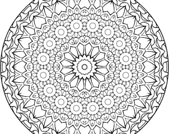A Fun Mandala for you to Color