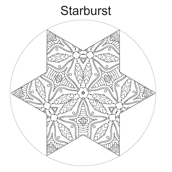 star coloring page star design star pattern printable