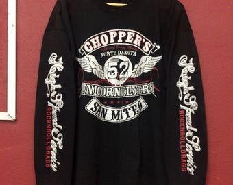 Vintage  choppers sweatshirt nort dakota 52 Unicornflyers..size 3L