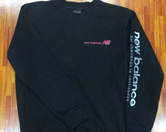 Vintage new balance sport size medium black colour