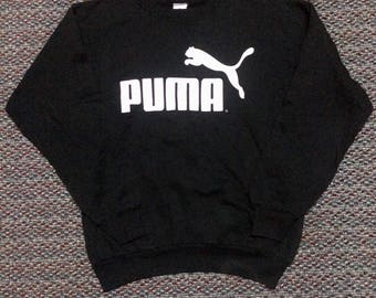 vintage Puma big logo sweatshirt..nice condition..size L