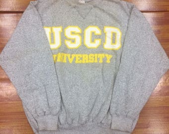 Vintage USCD University sweatshirts..nice condition size medium..big logo