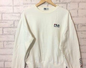 Vintage Fila biella italia sweatshirt..hip hop swag rap tees..size medium