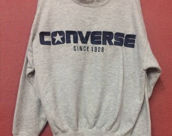 vintage converse big logo  sweatshirt skate hip hop swag size medium