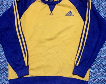 vintage ADIDAS sweatshirt..oren colour..hip hop swag raptees..nice condition