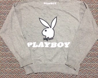 rare!!vintage Playboy sweatshirt hip hop swag raptees..size large