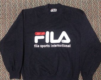 Vintgar FILA sweatshirt big logo...hip hop swag raptes..size medium..nice condition..