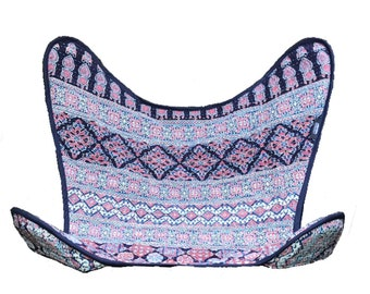 handmade with Vintage fabrics 100/% cotton Butterfly boho chair