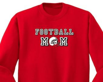 Football Mom Helmet Sports Fan Game Day Season Men Women Crewneck Sweatshirt