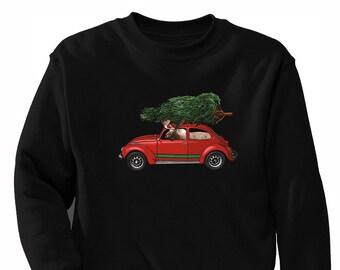 ... Versand Elch fahren Bug Baum hässlich Weihnachten Pullover lustigen  Urlaub Partei Winter Santa Schneemann Geschenk Elk Männer Frauen Rundhals  Sweatshirt 4ccce6a223